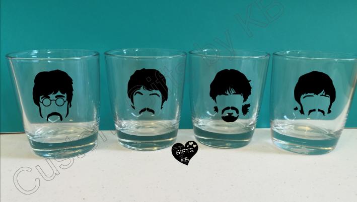 Beatles set of 4 Whiskey Glasses