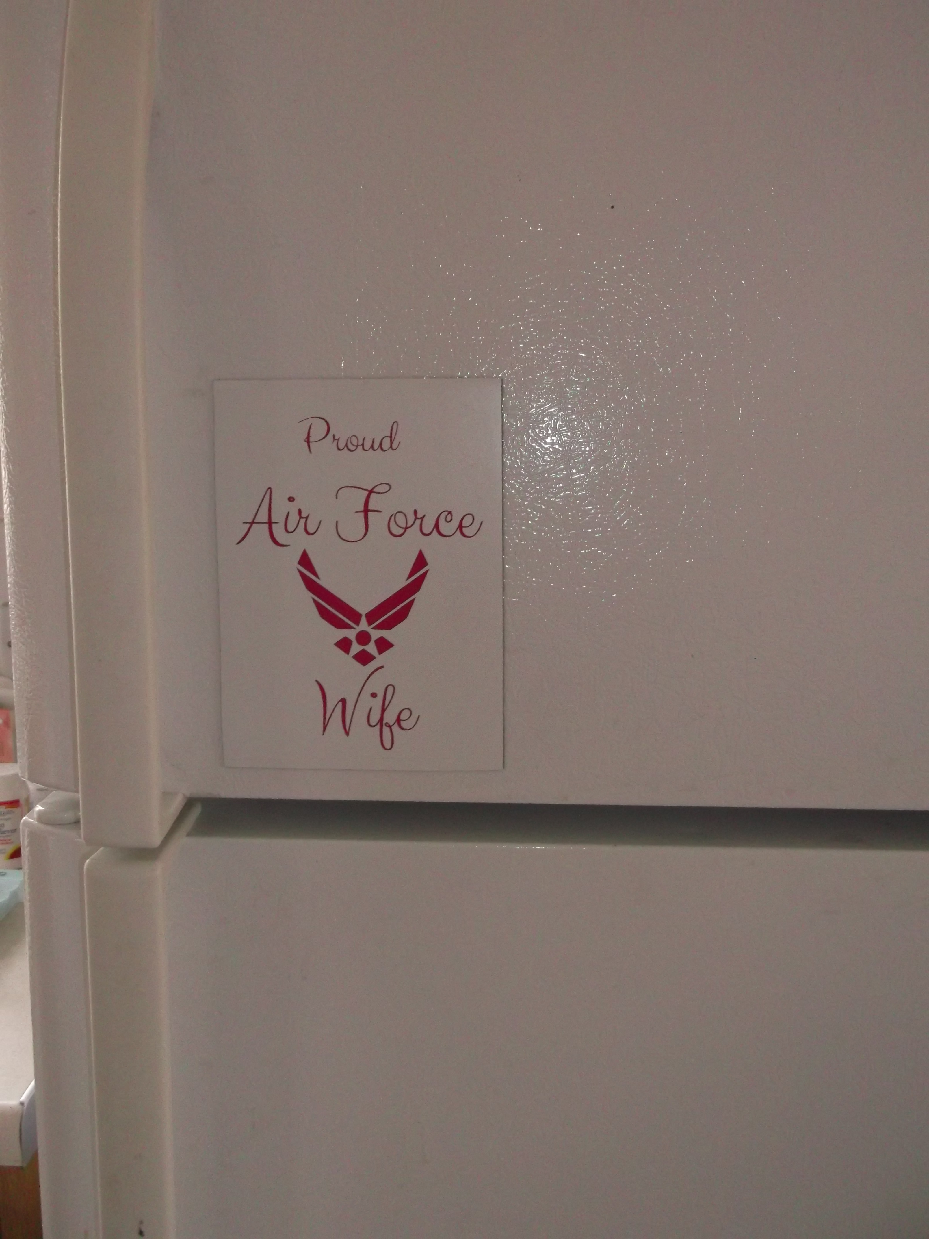 Proud Air Force Wife Customized Decal