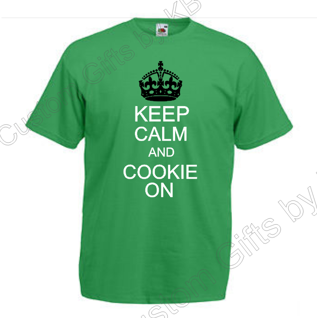 Cookie on Keep Calm T Shirt