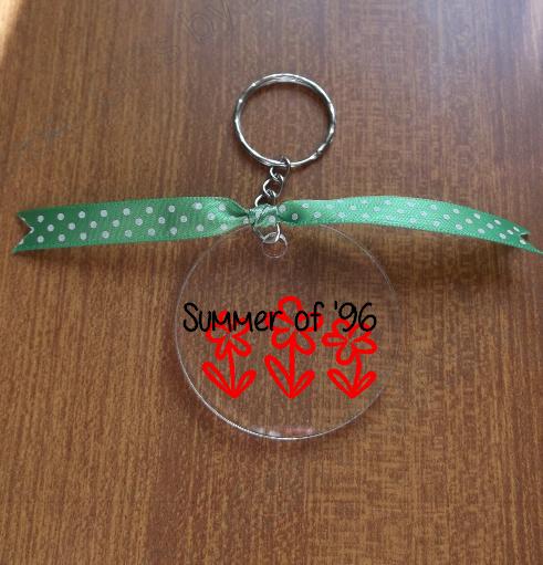 Custom Flower Key Chain