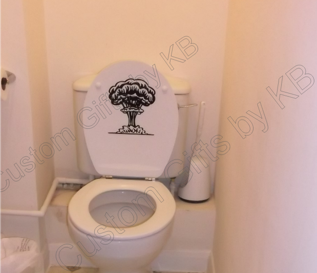 Nuclear Bomb Toilet Lid Decal