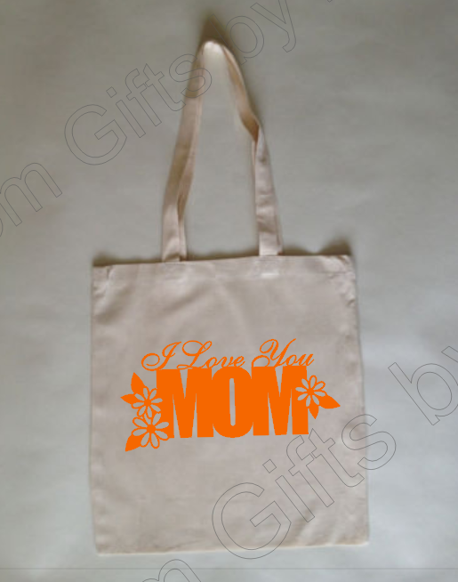 I love you Mom Custom Tote Bag