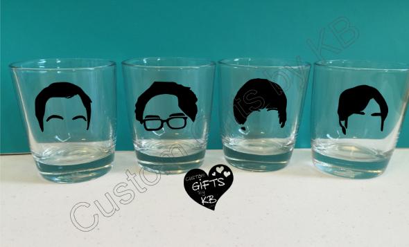 Big Bang Theory Whiskey Glass Set