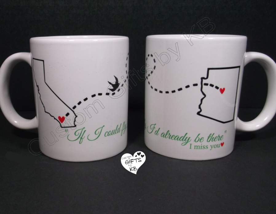 Birdie Mugs If I could fly I'd be there already