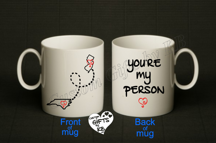 You're my Person Mug with states