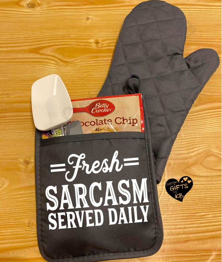 Fresh Sarcasm Served Daily Pot Holder