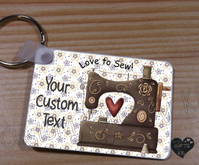 Love to Sew Key Chain